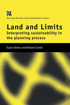 Land and Limits: Interpreting Sustainability in the Planning Process, 1st Edition (Paperback) book cover