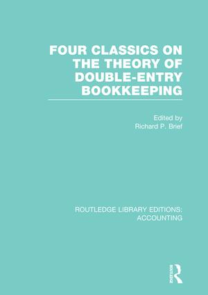Four Classics on the Theory of Double-Entry Bookkeeping (RLE Accounting): 1st Edition (Paperback) book cover