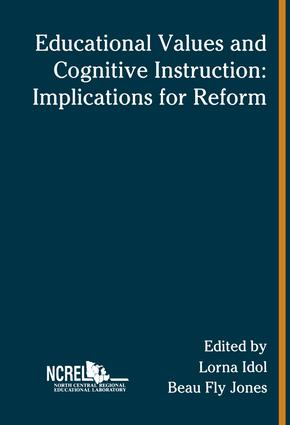 Educational Values and Cognitive Instruction: Implications for Reform book cover
