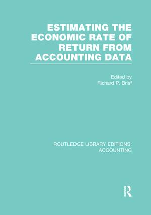 Estimating the Economic Rate of Return From Accounting Data (RLE Accounting): 1st Edition (Paperback) book cover
