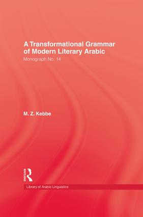 Transformational Grammar Of Modern Literary Arabic: 1st Edition (Paperback) book cover