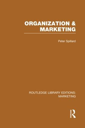 Organization and Marketing (RLE Marketing) book cover