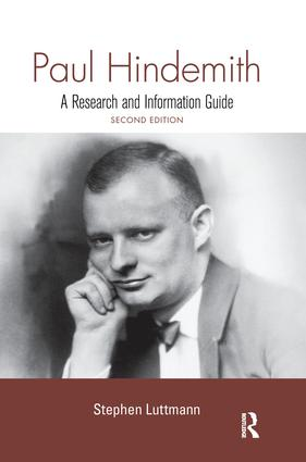 Paul Hindemith: A Research and Information Guide book cover