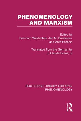 Phenomenology and Marxism book cover