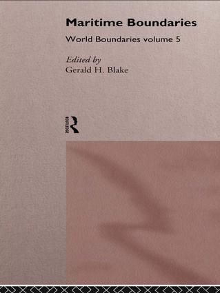 Maritime Boundaries: World Boundaries Volume 5, 1st Edition (Paperback) book cover