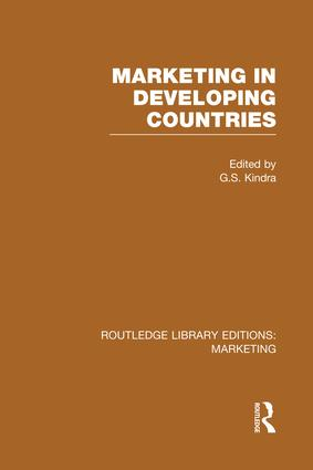 Marketing in Developing Countries (RLE Marketing): 1st Edition (Paperback) book cover