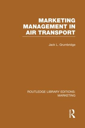 Marketing Management in Air Transport (RLE Marketing) book cover