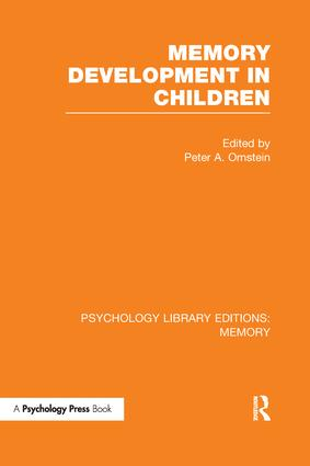 Memory Development in Children: 1st Edition (Paperback) book cover