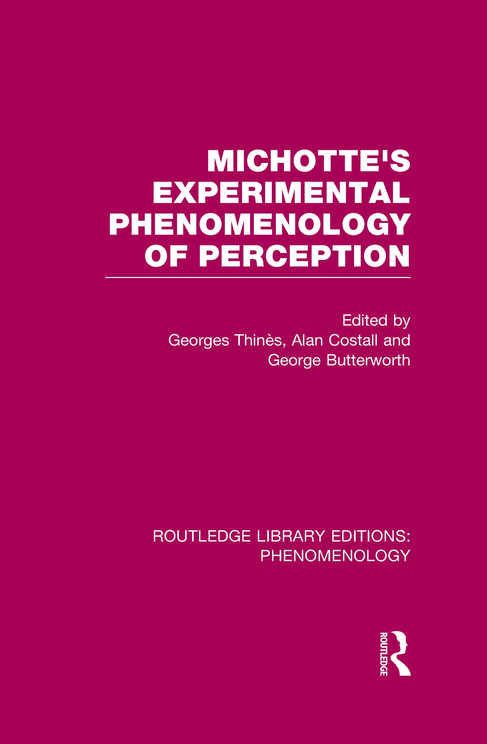 Michotte's Experimental Phenomenology of Perception