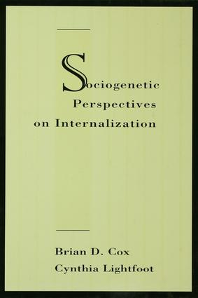 Sociogenetic Perspectives on Internalization: 1st Edition (Paperback) book cover