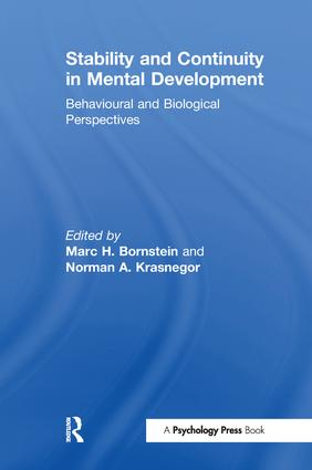 Stability and Continuity in Mental Development: Behavioral and Biological Perspectives, 1st Edition (Paperback) book cover
