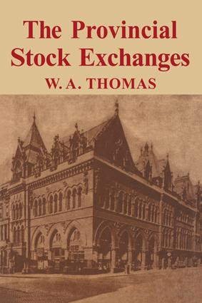 Provincial Stock Exchange: 1st Edition (Paperback) book cover