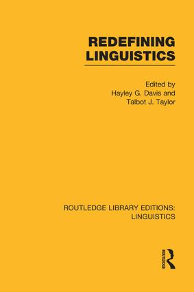 Redefining Linguistics: 1st Edition (Paperback) book cover