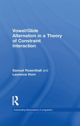 Vowel/Glide Alternation in a Theory of Constraint Interaction: 1st Edition (Paperback) book cover