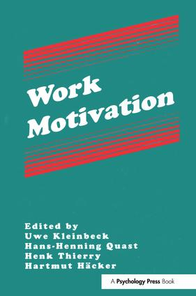 Work Motivation book cover
