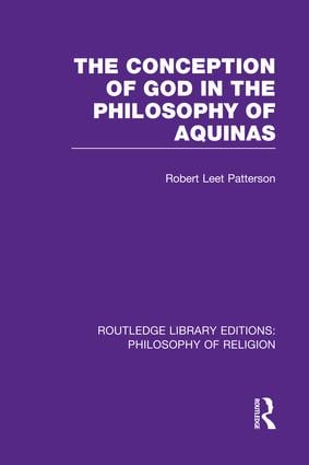 The Conception of God in the Philosophy of Aquinas book cover