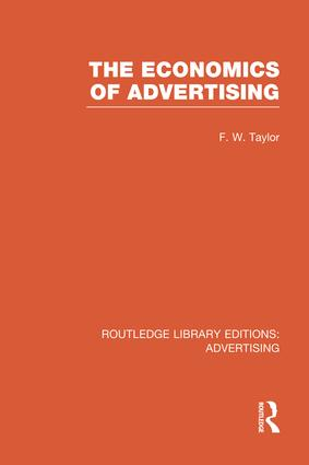 The Economics of Advertising book cover