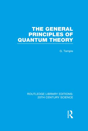 The General Principles of Quantum Theory book cover