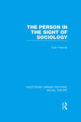 The Person in the Sight of Sociology book cover