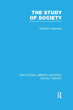 The Study of Society: 1st Edition (Paperback) book cover