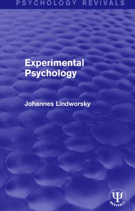 Experimental Psychology book cover
