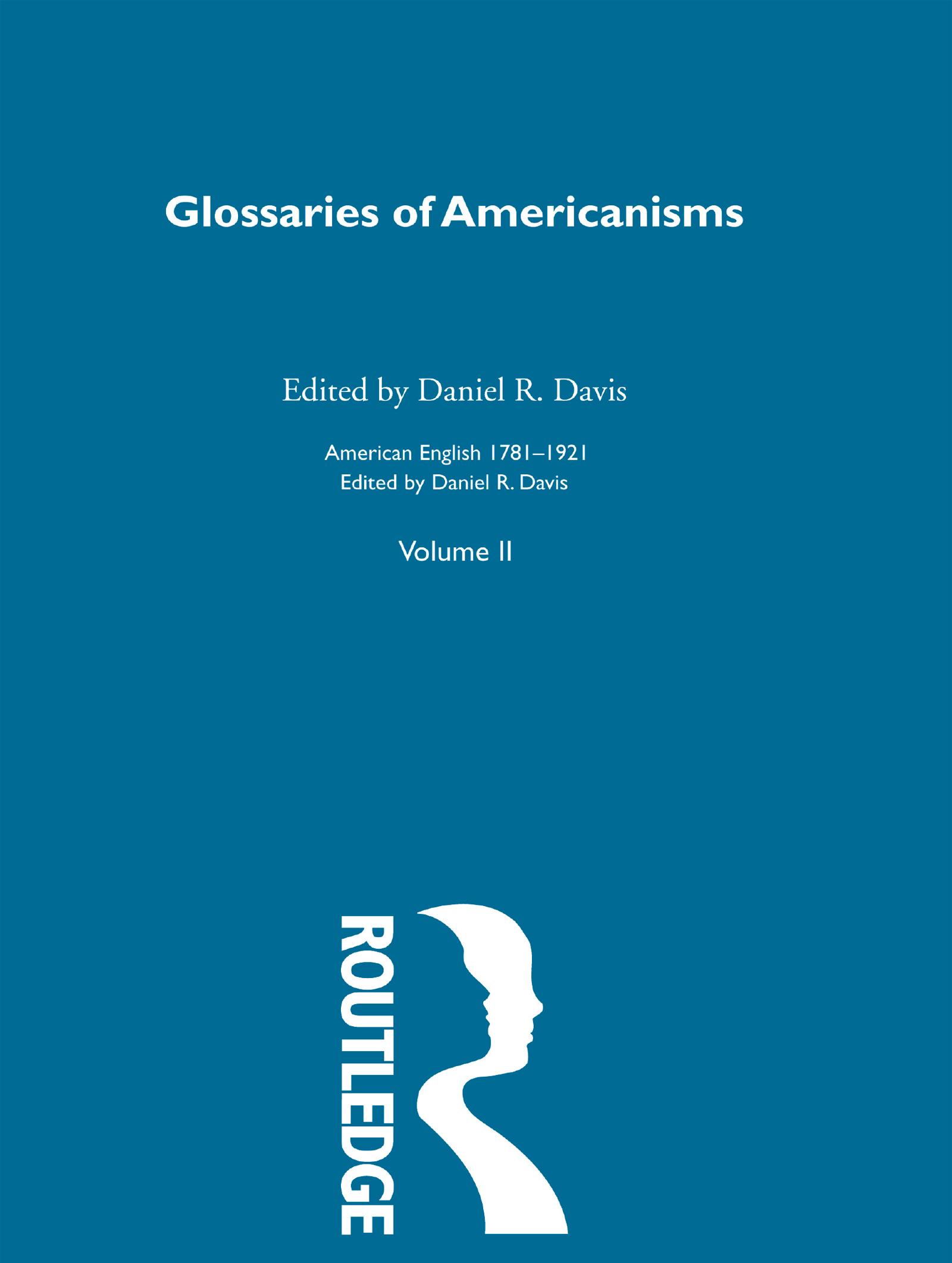Glossaries Of Americanisms   V