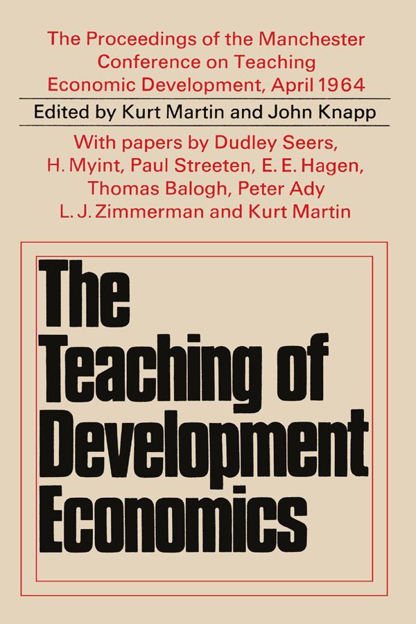 Teaching of Development Economics book cover