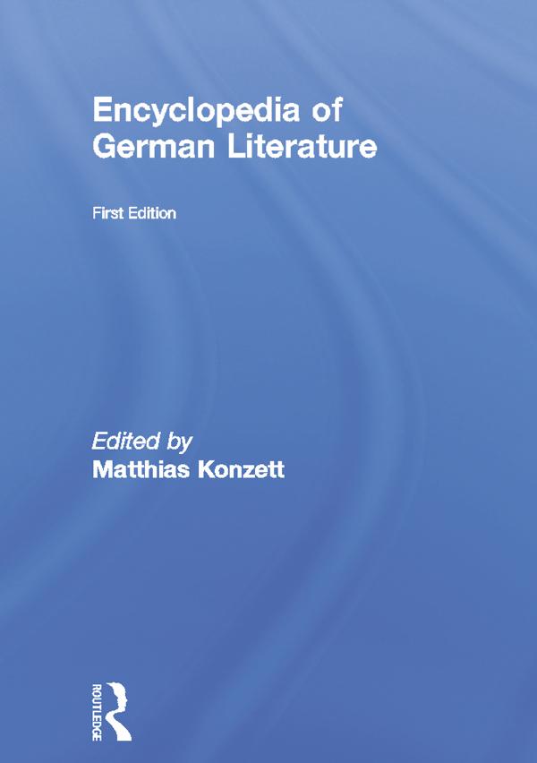 Encyclopedia of German Literature
