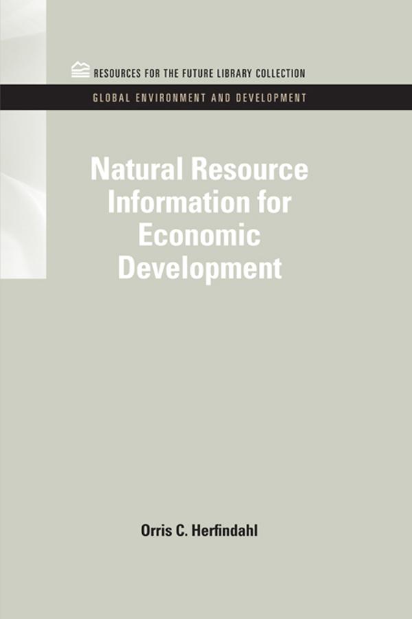 Natural Resource Information for Economic Development