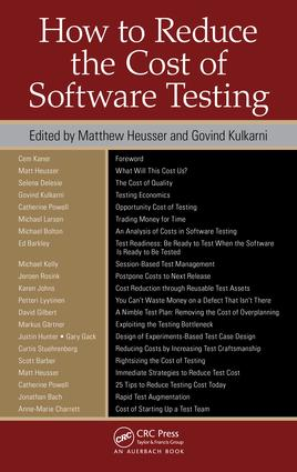 How to Reduce the Cost of Software Testing: 1st Edition (e-Book) book cover