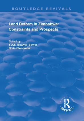 The Political Economy of Land Redistribution in the 1990s