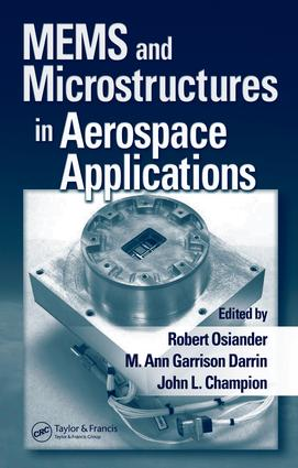 MEMS and Microstructures in Aerospace Applications: 1st Edition (e-Book) book cover