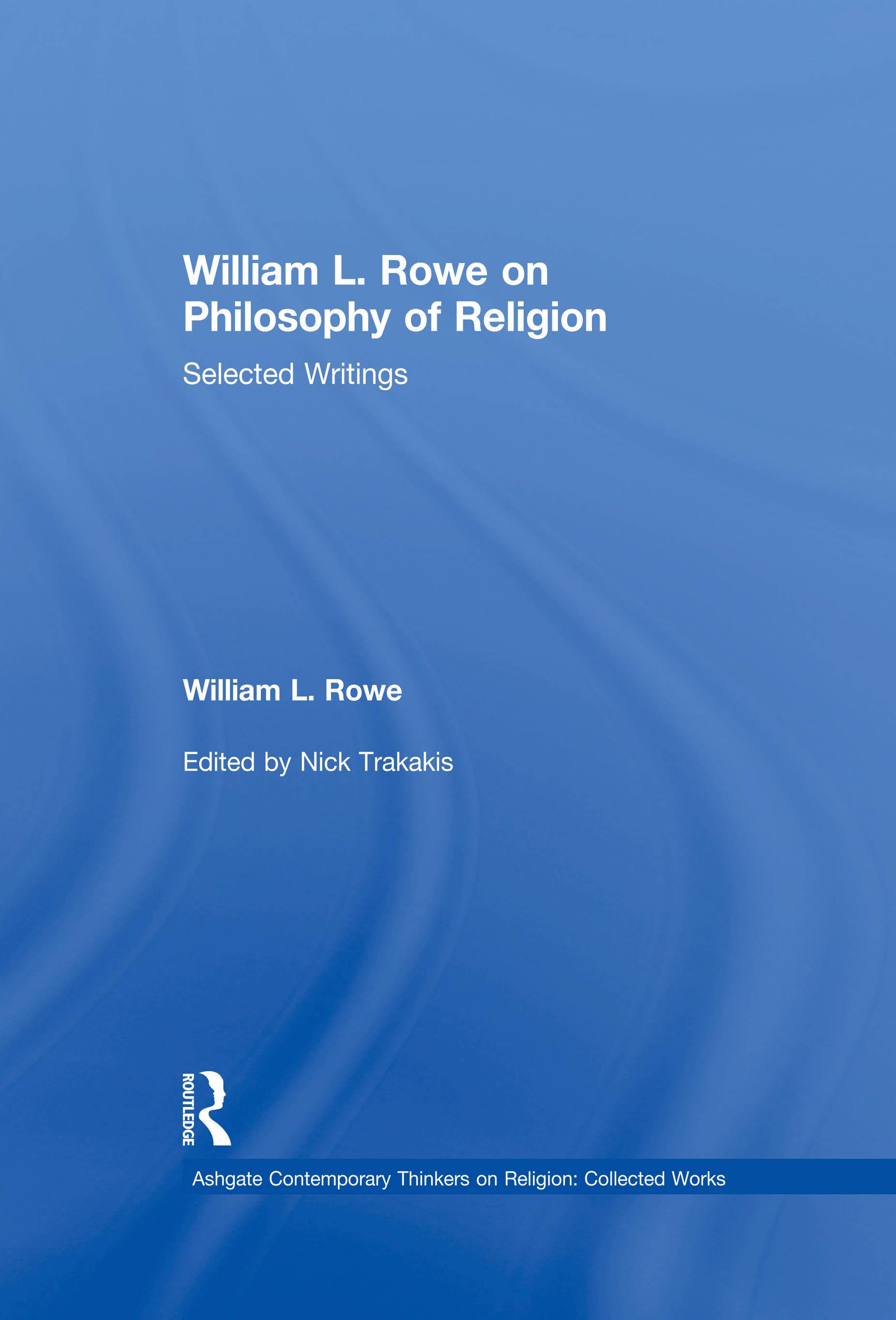 William L. Rowe on Philosophy of Religion