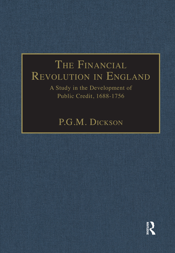 The Financial Revolution in England