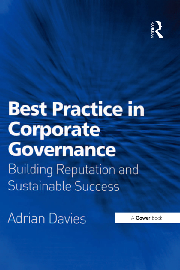 Best Practice in Corporate Governance