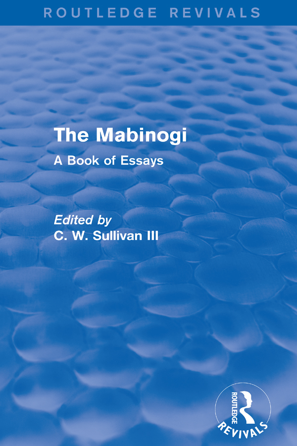 The Mabinogi (Routledge Revivals): A Book of Essays book cover