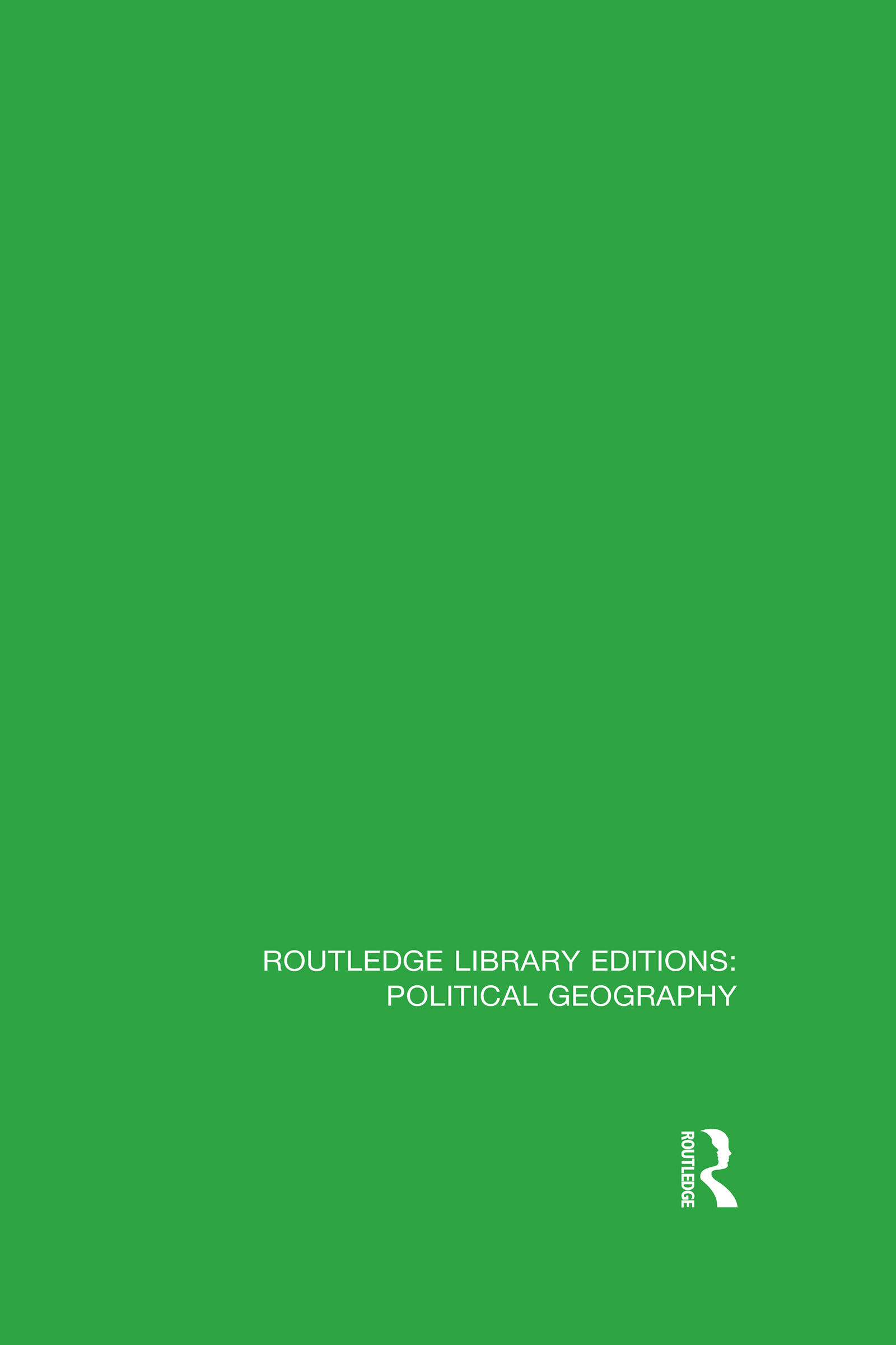 Routledge Library Editions: Political Geography book cover