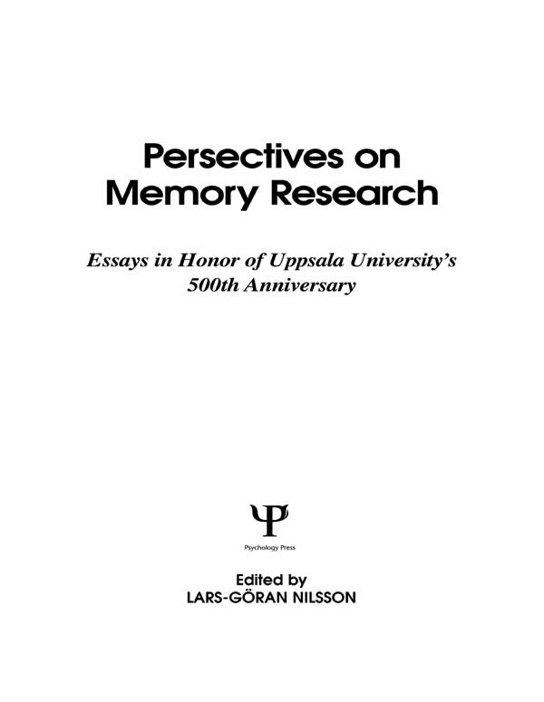 Perspectives on Learning and Memory