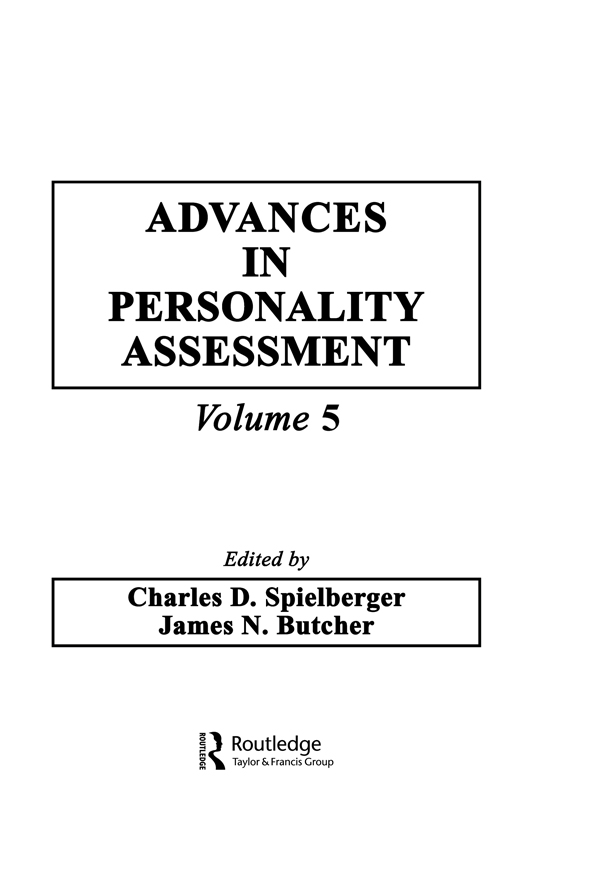 Advances in Personality Assessment