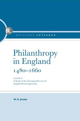 Philanthropy in England book cover