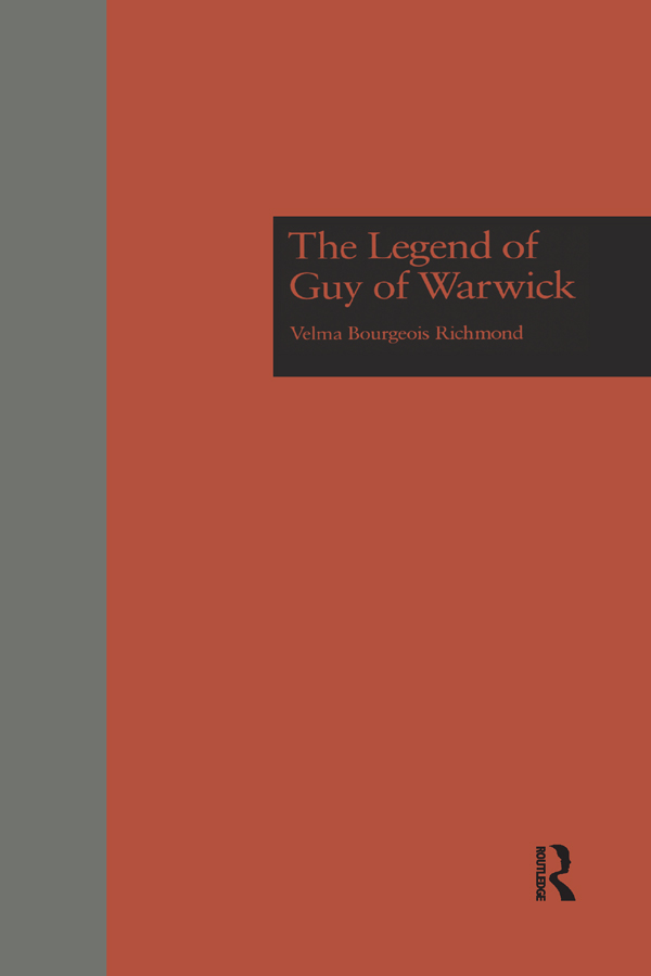The Legend of Guy of Warwick book cover