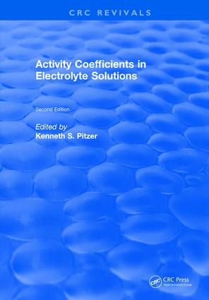 Activity Coefficients in Electrolyte Solutions: 2nd Edition (Hardback) book cover
