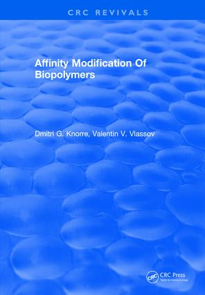 Affinity Modification Of Biopolymers: 1st Edition (Hardback) book cover
