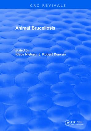 Animal Brucellosis: 1st Edition (Hardback) book cover