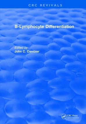 B-Lymphocyte Differentiation: 1st Edition (Hardback) book cover
