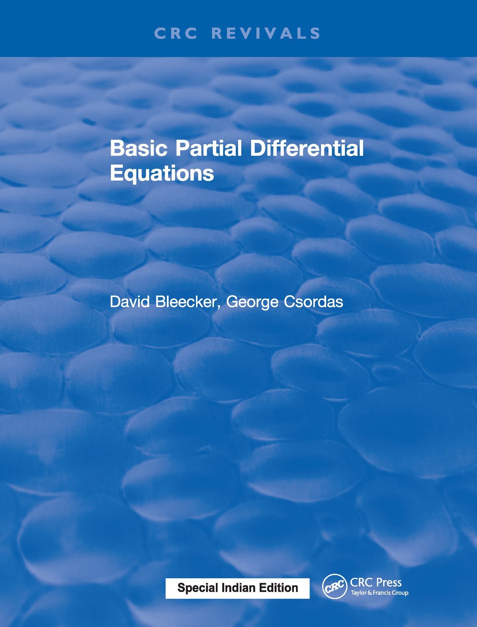 Basic Partial Differential Equations: 1st Edition (Hardback) book cover
