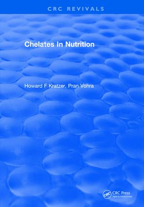 Chelates In Nutrition: 1st Edition (Hardback) book cover