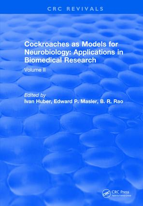 Cockroaches as Models for Neurobiology: Applications in Biomedical Research: Volume II, 1st Edition (Hardback) book cover