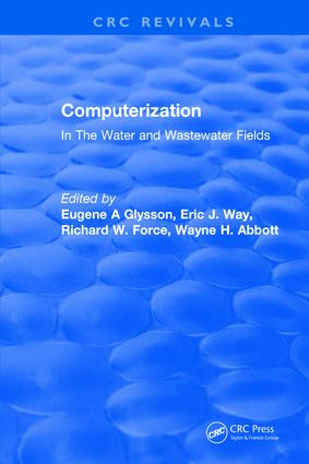 Computerization: In The Water and Wastewater Fields, 1st Edition (Hardback) book cover