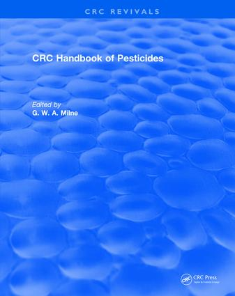 CRC Handbook of Pesticides: 1st Edition (Hardback) book cover